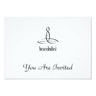 Kundalini - Black Sanskrit style 13 Cm X 18 Cm Invitation Card