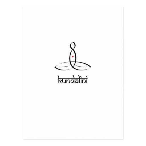 Kundalini - Black Sanskrit style Postcard