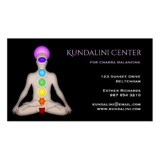 Kundalini Center for Chakra Balancing Pack Of Standard Business Cards