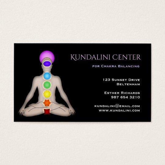 Kundalini Centre for Chakra Balancing Business Card