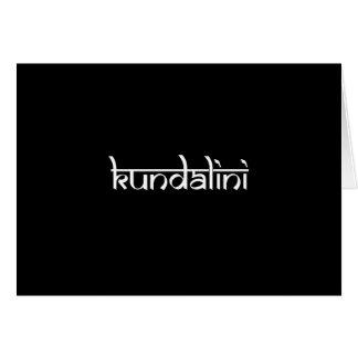 Kundalini Design on Sanskrit Style Card