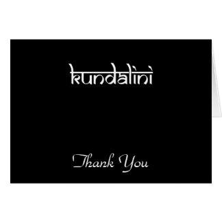 Kundalini Design on Sanskrit Style Greeting Card