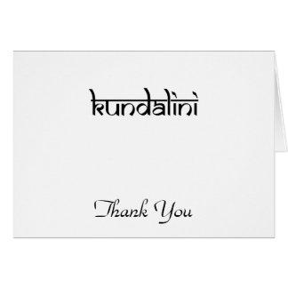 Kundalini Design on Sanskrit Style Note Card