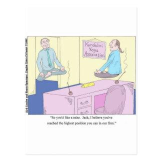 Kundalini Inc. Yoga Cartoon Gifts & Collectibles Postcard