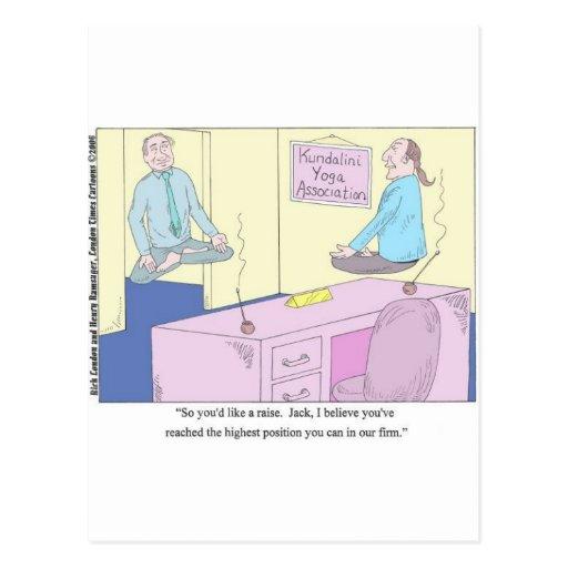Kundalini Inc. Yoga Cartoon Gifts & Collectibles Post Cards