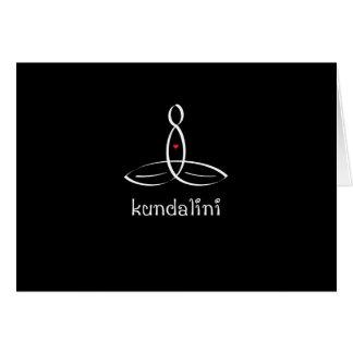 Kundalini - White Fancy style Greeting Card