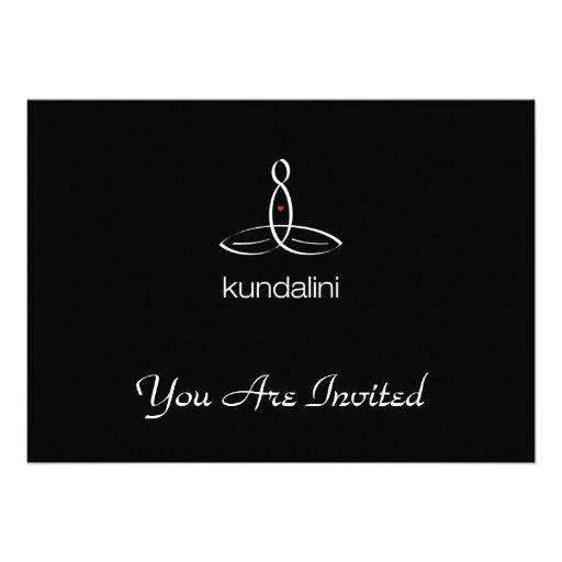 Kundalini - White Regular style Personalized Invitation