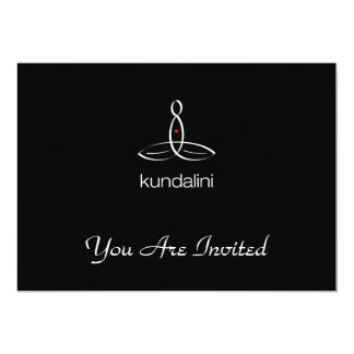 "Kundalini - White Regular style 5"" X 7"" Invitation Card"