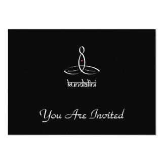 Kundalini - White Sanskrit style 13 Cm X 18 Cm Invitation Card