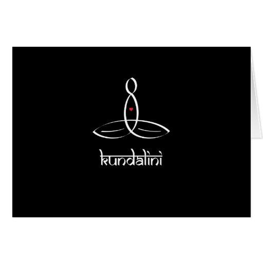 Kundalini - White Sanskrit style Greeting Cards