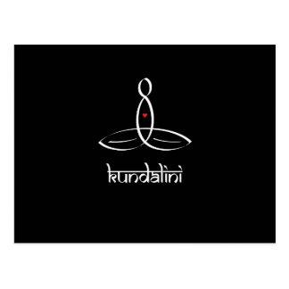Kundalini - White Sanskrit style Postcard