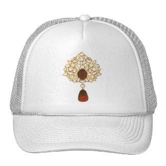 Kundan & ruby brooch cap