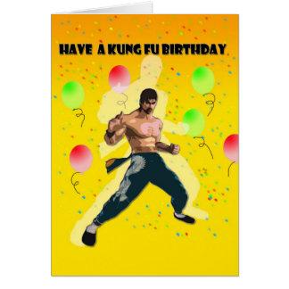 kung fu birthday cards