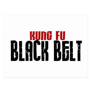 Kung Fu Black Belt Karate Postcards