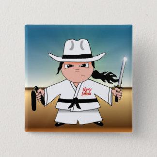 Kung Fu Cowboy Flair! 15 Cm Square Badge