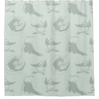 Kung Fu Panda Pattern Shower Curtain
