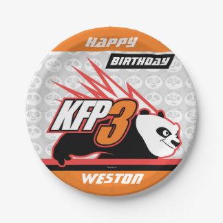Kung Fu Panda   Po Striped Birthday Paper Plate