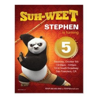 Kung Fu Panda | Po Warrior Birthday 11 Cm X 14 Cm Invitation Card