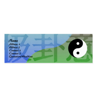 Kung Fu Profile Card Pack Of Skinny Business Cards