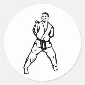 Kung Fu Ronald Reagan Round Sticker