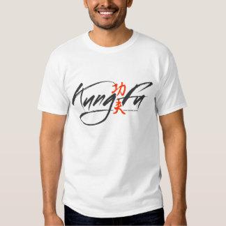 Kung Fu Script Logo T Shirts
