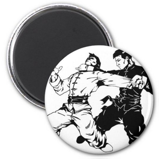 KUNG FU SWEEP 6 CM ROUND MAGNET