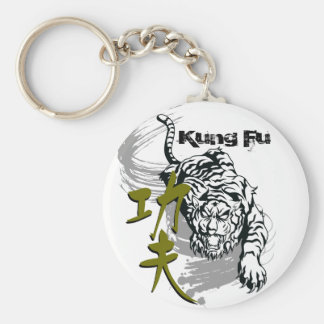 Kung Fu tiger for martial art master by kanjiz Key Ring