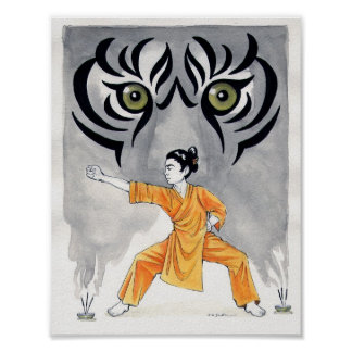 Kung Fu Tiger Print