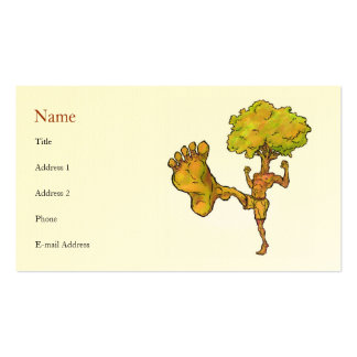 Kung Fu Tree Profile Card Template Pack Of Standard Business Cards