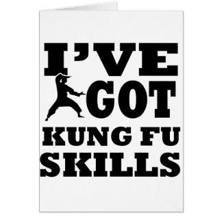 Kungfu Martial Arts designs Greeting Card