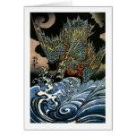 Kuniyoshi Dragon Fine Vintage Japanese Greeting Card