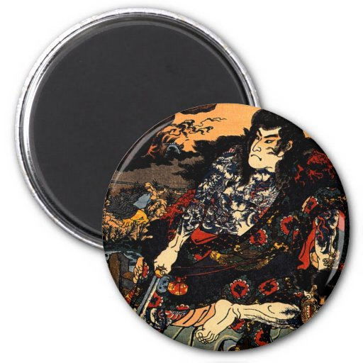 Kuniyoshi Japan  Kyumonryu shinsh 6 Cm Round Magnet