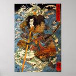 Kuniyoshi Samurai Poster