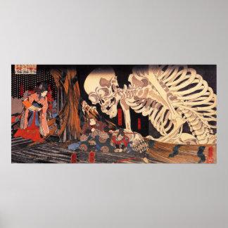 Kuniyoshi Skeleton Poster