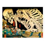 Kuniyoshi Skeleton Summoned by Witch Post Card