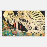 Kuniyoshi Skeleton Summoned by Witch Rectangular Sticker