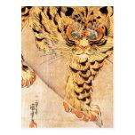 Kuniyoshi Tiger Postcard