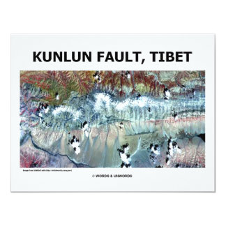 "Kunlun Fault Tibet 4.25"" X 5.5"" Invitation Card"