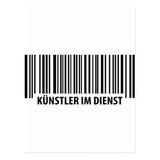 Künstler im Dienst Barcode icon Post Card