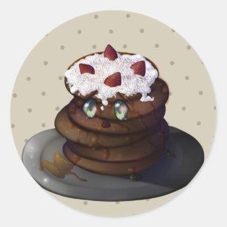 Kura Pancake Round Sticker