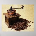Kurbel Kaffeemühle Poster