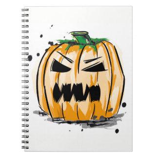 Kürbis Halloween Notebook