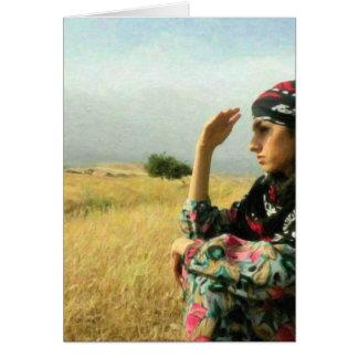 Kurdish Lady waiting for her Hero Card