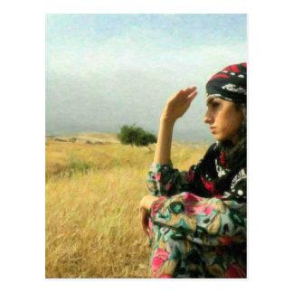 Kurdish Lady waiting for her Hero Postcard