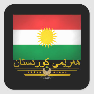 """Kurdish Pride 2"" Square Sticker"