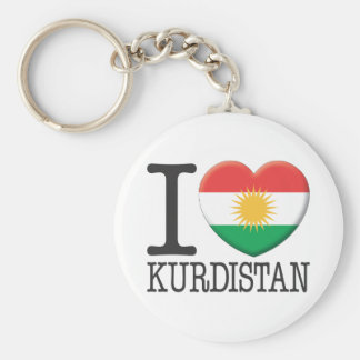 Kurdistan Basic Round Button Key Ring