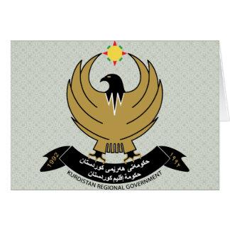 Kurdistan Coat of Arms detail Greeting Card