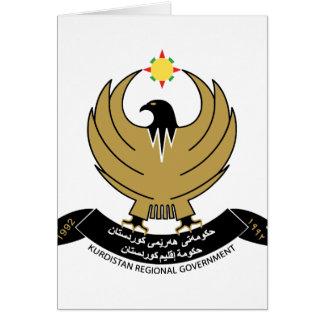 kurdistan emblem greeting card