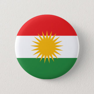 Kurdistan Flag 6 Cm Round Badge