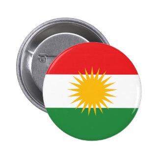 Kurdistan Flag 6 Cm Round Badge